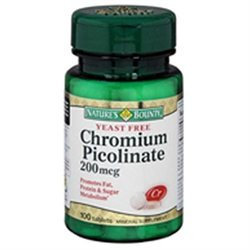 Tures Bounty Multivitamin Chromium Picolinate 200 Mcg Tablets, By Natures Bounty - 100 Tablets