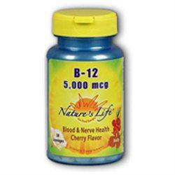 Nature's Life Vitamin B-12 Cherry - 5000 mcg - 100 Lozenges