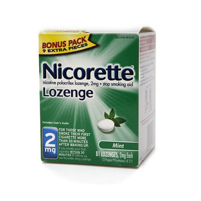 Nicorette 2 mg Nicotine Lozenges Bonus Pack Mint