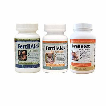 Fertilaid for Men, Fertilaid for Women and Ovaboost Combo (1 Month Supply)