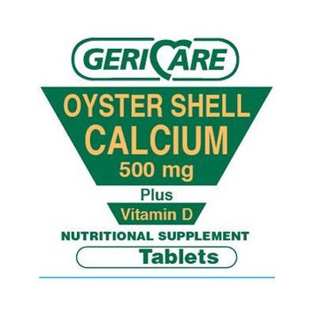 100 Oyster Shell Calcium 500mg plus D compares to Oscal D