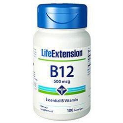 Life Extension Vitamin B12 - 500 mcg - 100 Lozenges