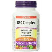 Webber Naturals B50 Complex 50 mg, Bonus Size 60+20 caps