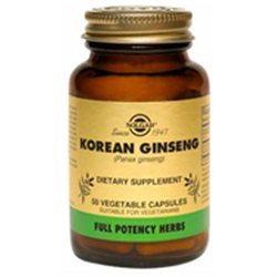 Solgar Korean Ginseng - 50 Vegetable Capsules