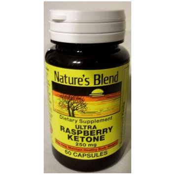 Nature's Blend Ultra Raspberry Ketone 250 mg 60 capsules Pack of 3