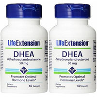 Life Extension, Dhea (Dehydroepiandrosterone) 50 Mg, Capsules, 60 X 2