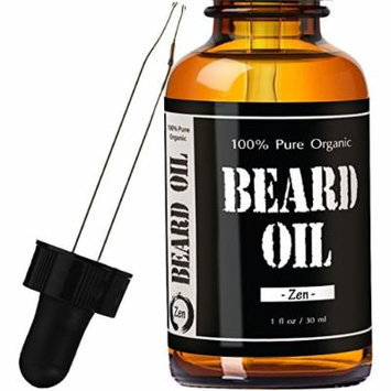 Zen Juniper Sage Beard Oil #1 RATED Leven Rose Leave-in Conditioner - Best Scented Beard Oil 100% Pure Organic Natural for Groomed Beard Growth, Mustache, Skin for Men - 1 oz Zen Juniper Sage Scent