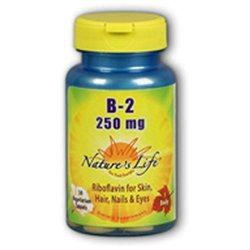 Nature's Life Vitamin B-2 - 250 mg - 50 Tablets