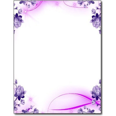 Desktop Publishing Supplies, Inc. Purple Passion Stationery Paper - 100 Sheets
