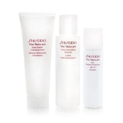 Shiseido The Skincare Moisturizing 1-2-3 Set Extra Gentle Cleansing Foam 2.8oz + Hydro-Nourishing Softener 3.3oz + Day Moisture Protection SPF 15 1oz