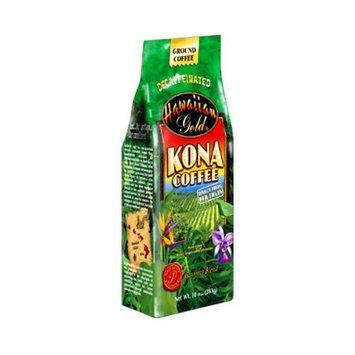 Hawaiian Gold Kona Decaf Ground Coffee, 10-Ounce (Pack of 3)