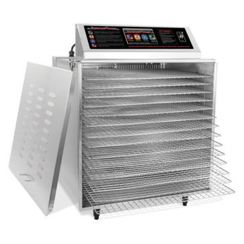 TSM Products TSM 32629 14 Tray Digital Touch Screen Insulated Food Dehydrator with Stainless Steel Shelves