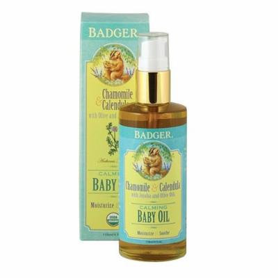Badger - Calming Baby Oil, Chamomile & Calendula - 4 fl oz