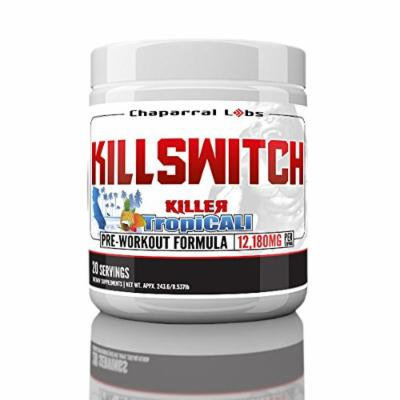 Chaparral Labs Killswitch Pre Workout Supplement! No Prop Blend & Fully Dosed Powder For Maximum Results! TropiCali Tropical Fruit Flavor!