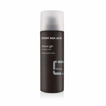 Every Man Jack Sensitive Shave Gel - Fragrance Free - 7 fl. oz & Deodorant Stick Aluminum Free (Citrus) 3 oz. Set