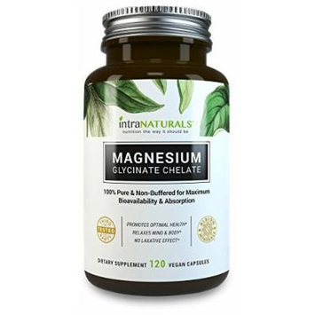 Magnesium Glycinate 150mg in Vegan Capsules, Better Absorbing than Tablets , 100% Pure & Non-Buffered for Maximum Bioavailability & Absorption with NO Laxative Effect - Non-GMO , IntraNaturals