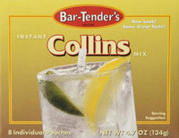 Kegworks Bar-Tenders Collins Instant Cocktail Mix: Box - 8 Pouches