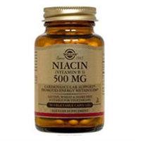 Solgar - Niacin Vitamin B3 500 mg. - 50 Vegetarian Capsules