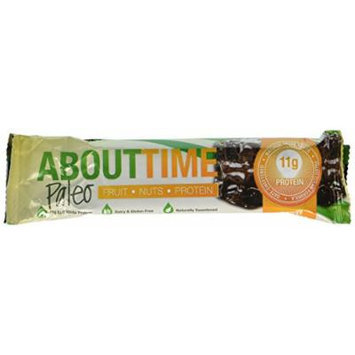 SDC Nutrition About Time Fruit Nut and Protein Bar, Dark Chocolate Brownie, 12 Count