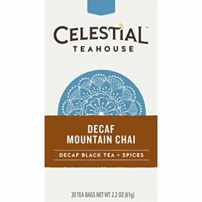 Celestial Seasonings Decaf Mountain Chai Tea, 20 Count (Pack of 6)