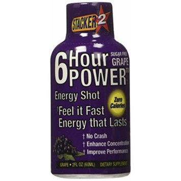 Stacker 2 6 Hour Power Nutritional Supplement, Grape, 12 Count