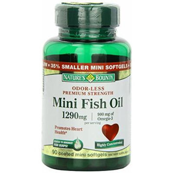 Nature's Bounty Mini Fish Oil, 1290mg, 90 Count Pack of 4