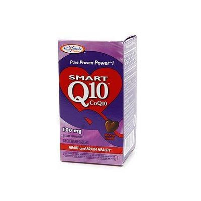 Enzymatic Therapy Smart Q10 CoQ10, 100mg, Chewable Tablets, Chocolate 30 ea