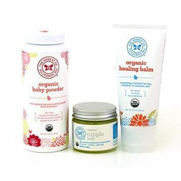 The Honest Company Organic Baby Powder 4.0 oz., Organic Nipple Balm 1.8 oz. & Organic Healing Balm 3.0 oz.