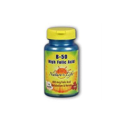 High Folic Acid B-50 Nature's Life 100 Caps