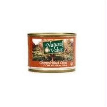 Natural Value B22955 Natural Value Chopped Black Olives -24x4.25oz