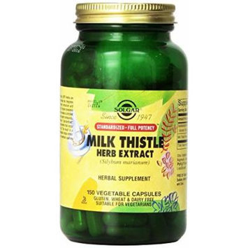 solgar Milk Thistle Full Potency Milk Thistle Herb Extract - 300 Vegetable Caps