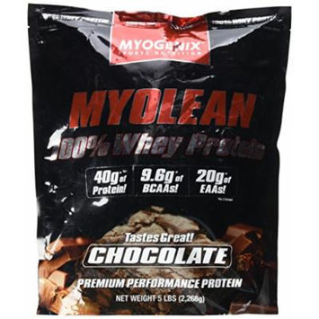 Myolean 100% Whey Protein Powder, Chocolate, 5 Myogenix