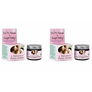 Earth Mama Angel Baby Natural Nipple Butter, 2-ounce Jar (Two Pck)