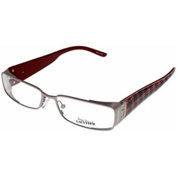 Jean Paul Gaultier Prescription Eyewear Frames VJP113M 0GE5 Palladium Red Plaid