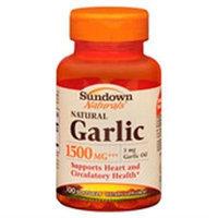Sundown Garlic, 1500, 100 Softgels (pack Of 4)