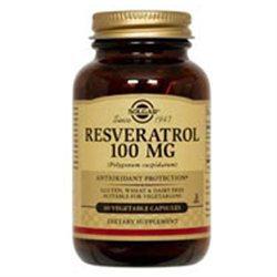 Solgar Resveratrol - 100 mg - 60 Vegetable Capsules