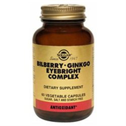 Solgar Bilberry-Ginkgo Eyebright Complex - 60 Vegetable Capsules