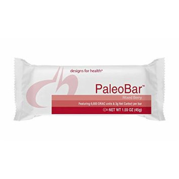 Designs for Health , PaleoBar Mixed Berry , Optimal Protein Intake , Great Protein Bar Snack , Product Shipped Fresh with Cold Packs , 1 Box of 18 Bars