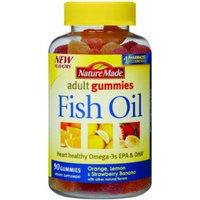 Nature Made Fish Oil Adult Gummies-90 Ct- Orange Lemon & Strawberry Banana Flavored (3 Pack)