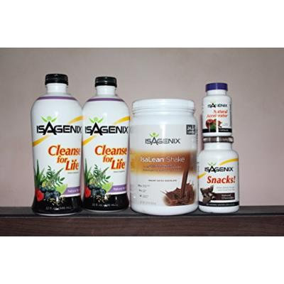 Isagenix 9-day Deep Cleansing and Fat-burning System Chocolate Flavor with Cleanse Liquid Bottles