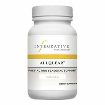 Integrative Therapeutics - AllQlear - Fast-Acting Seasonal Support - Vanilla Flavored - 60 Chewable Tablets