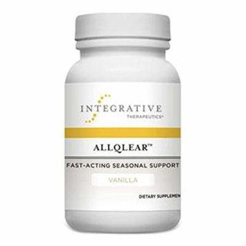 Integrative Therapeutics - AllQlear - Fast-Acting Seasonal Support - Vanilla Flavored - 60 Chewable Tablets