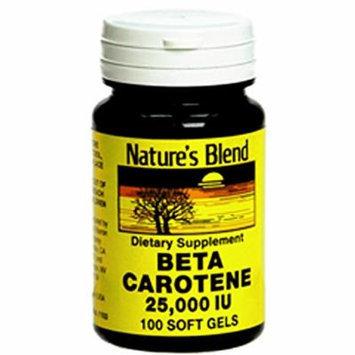 Nature's Blend Beta Carotene 25,000 IU 100 Softgels Pack of 2
