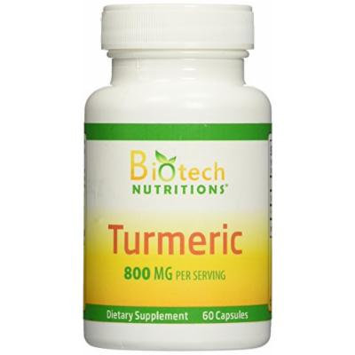 Biotech Nutritions All Natural Turmeric Veggie Capsules, 60 Count