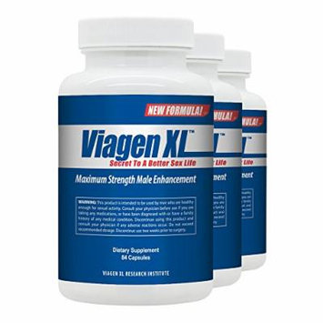 Viagen XL (3 Bottles) - Best Male Enhancement Pills and All-Natural Libido Booster