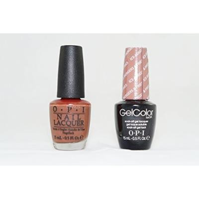 OPI Nail Lacquer and Gelcolor Ice Bergers and Fries N40. Each Bottle Contains .5 Oz.
