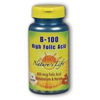 B-100 High Folic Acid Nature's Life 250 Caps