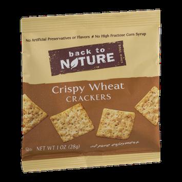 Back To Nature Mini Crispy Wheat Crackers