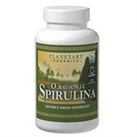 Planetary Herbals, Organic Spirulina 500 mg 100 Tablets