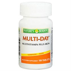 Tures Bounty Multivitamin Nature's Bounty Multi-Day Plus Iron - 100 Tablets
